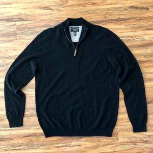 NWT -Men's Nordstrom 100% Cashmere Qtr Zip Sweater